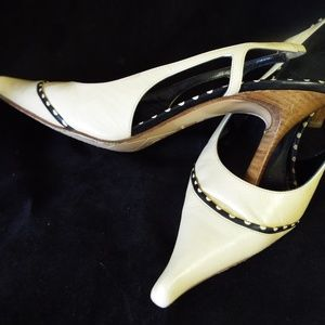 Chanel Made in Italy, Beige Sling Back 38 1/2 US 8